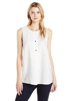 ELLEN TRACY Women's Linen Button Tunic  S