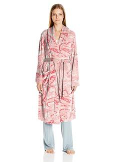 ELLEN TRACY Women's Long Baby Fleece Komono Wrap Robe