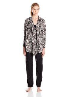Ellen Tracy Women's Long Sleeve Micro Fleece Pajama Set