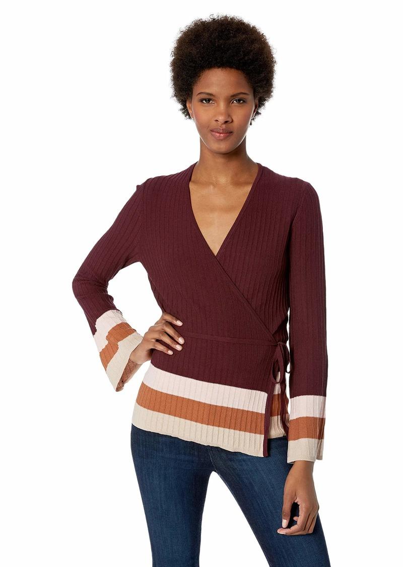 ELLEN TRACY Women's Longsleeve Plated Stitch Dress  M