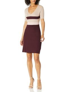 ELLEN TRACY Women's Longsleeve Plated Stitch Dress  S