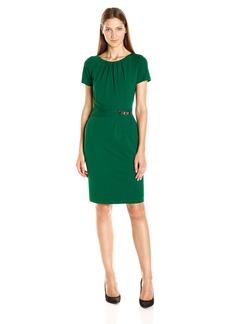 Ellen Tracy Women's Luxe Stretch Side Detail Dress