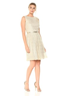 Ellen Tracy Women's Metallic Lace Dress