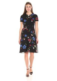 Ellen Tracy Women's Mixed Media Soft Dress