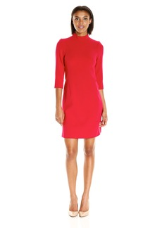 Ellen Tracy Women's Mock Neck Sheath Dress