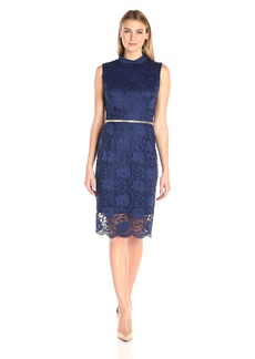 Ellen Tracy Women's Mockneck Lace Dress