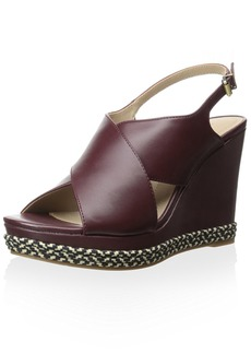 ELLEN TRACY Women's Nieve Wedge Sandal   M US