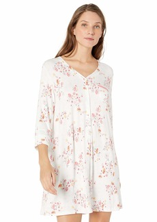 ELLEN TRACY Women's Nightgown Ivory GRD Floral L