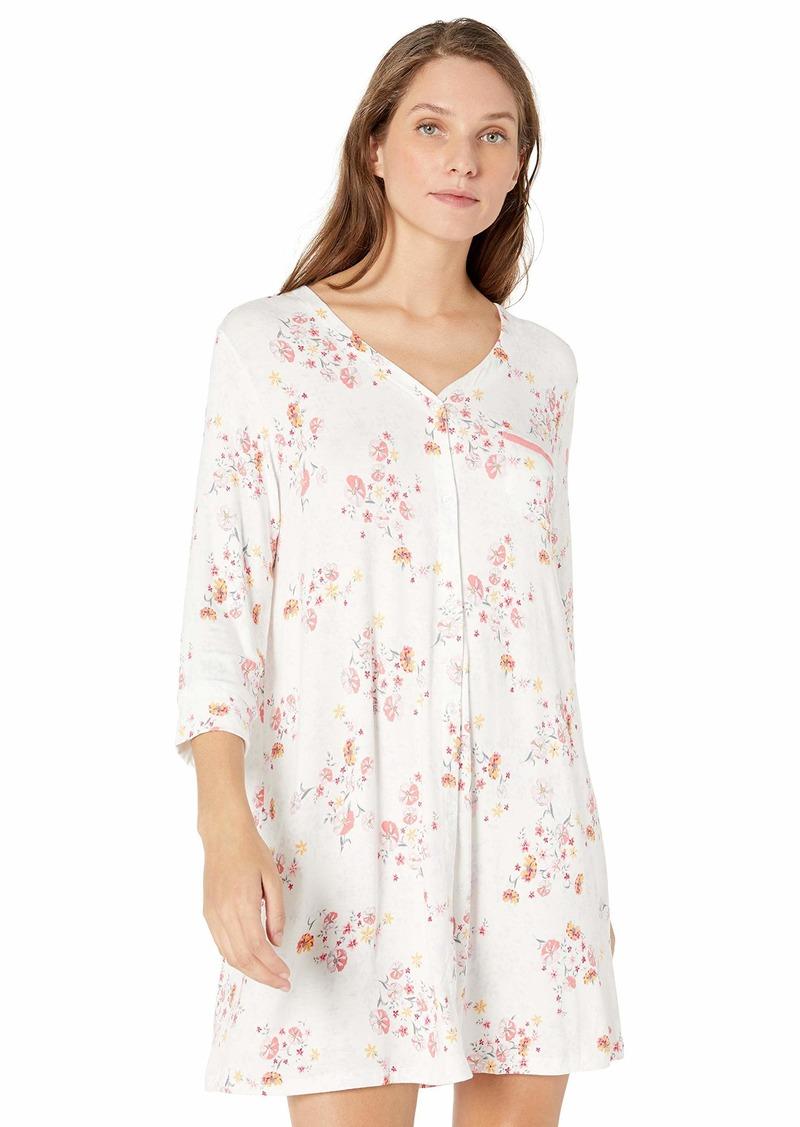 ELLEN TRACY Women's Nightgown Ivory GRD Floral L
