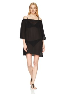ELLEN TRACY Women's Off The Shoulder Swim Cover-Up  S