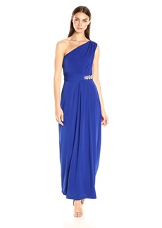 ELLEN TRACY Women's One Shoulder Jersey Gown