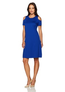 Ellen Tracy Women's Open Shoulder Dress  L