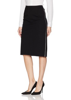 ELLEN TRACY Women's Pencil Skirt with Contrast Piping Detail el/Black