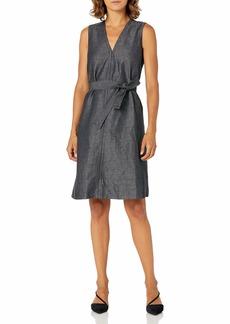 ELLEN TRACY Women's Petite Belted Fold Dress  16P