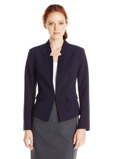 Ellen Tracy Women's Petite Inverted Rever Jacket Navy