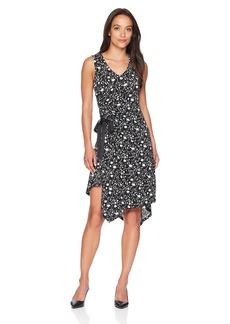 ELLEN TRACY Women's Petite Ruched Dress Mini Silhouette-Bl
