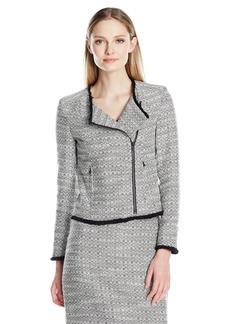 ELLEN TRACY Women's Petite Size Asymetrical Moto Jacket  14P
