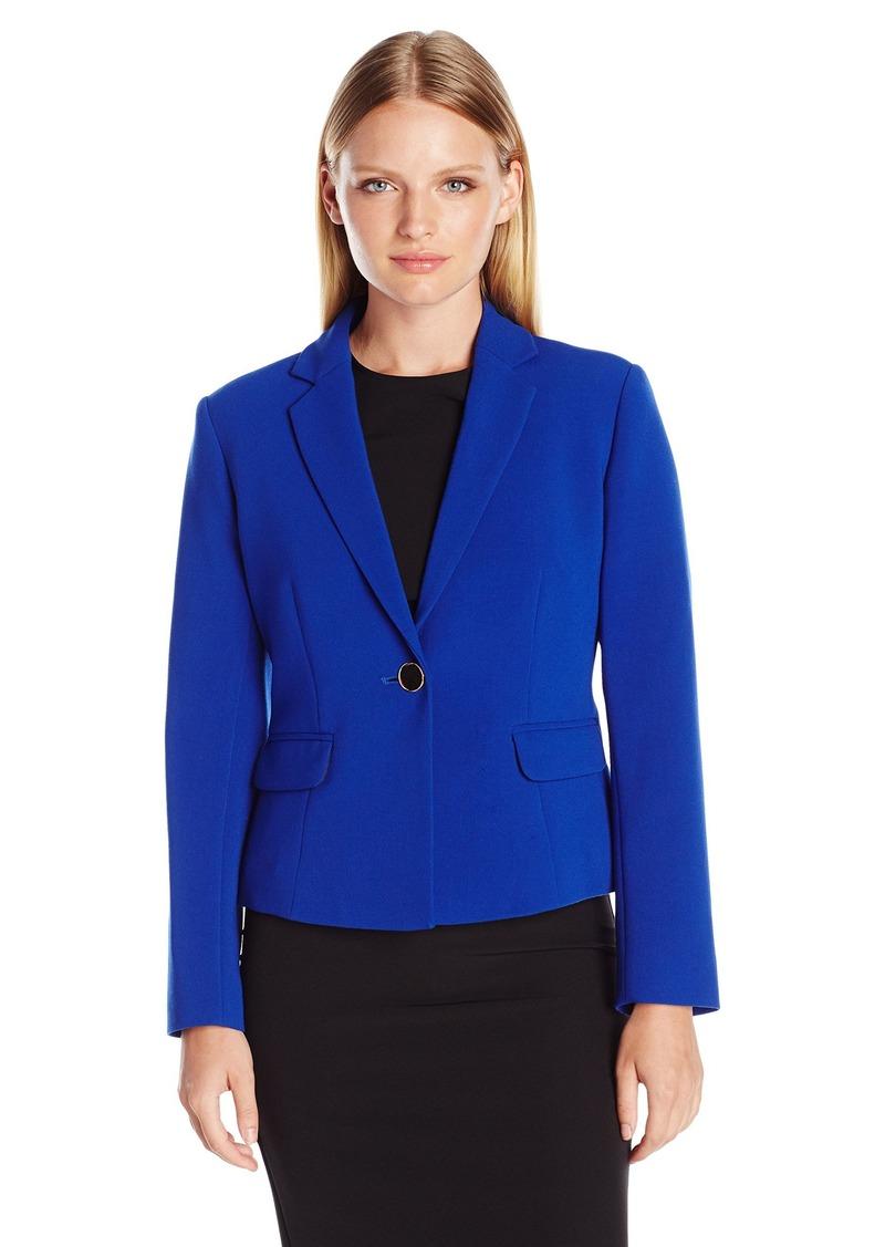 ELLEN TRACY Women's Petite Size Et Single Button Jacket  4
