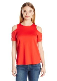 Ellen Tracy Women's Petite Size Open Shoulder Top  Medium