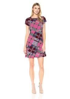 Ellen Tracy Women's Plaid T-Shirt Dress