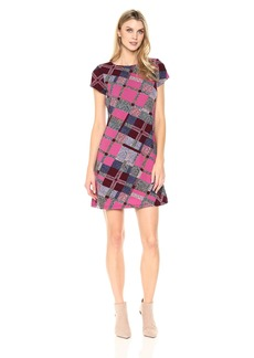 ELLEN TRACY Women's Plaid Tshirt Dress