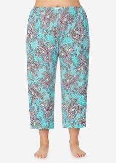 Ellen Tracy Women's Plus Size Cropped Pajama Pant
