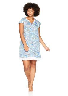 ELLEN TRACY Women's Plus Size Paisley Chemise Wave