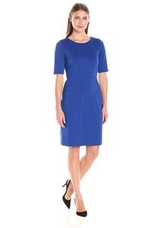 Ellen Tracy Women's Ponte 3/4 Sleeve Dress