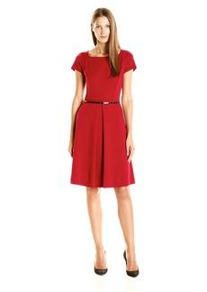 Ellen Tracy Women's Ponte Belted Dress