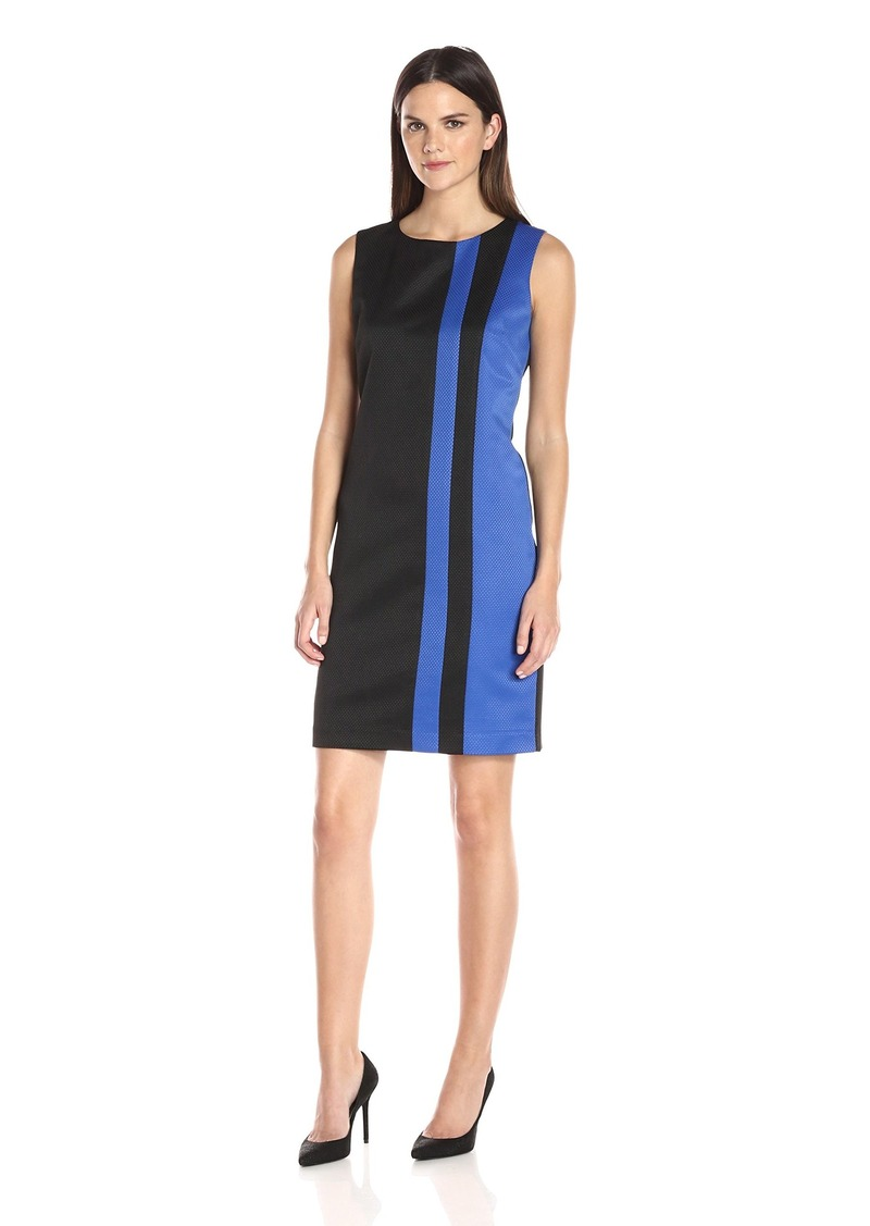 ELLEN TRACY Women's Ponte Color Block Dress