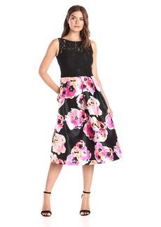 Ellen Tracy Women's Print Floral Occasion Dress