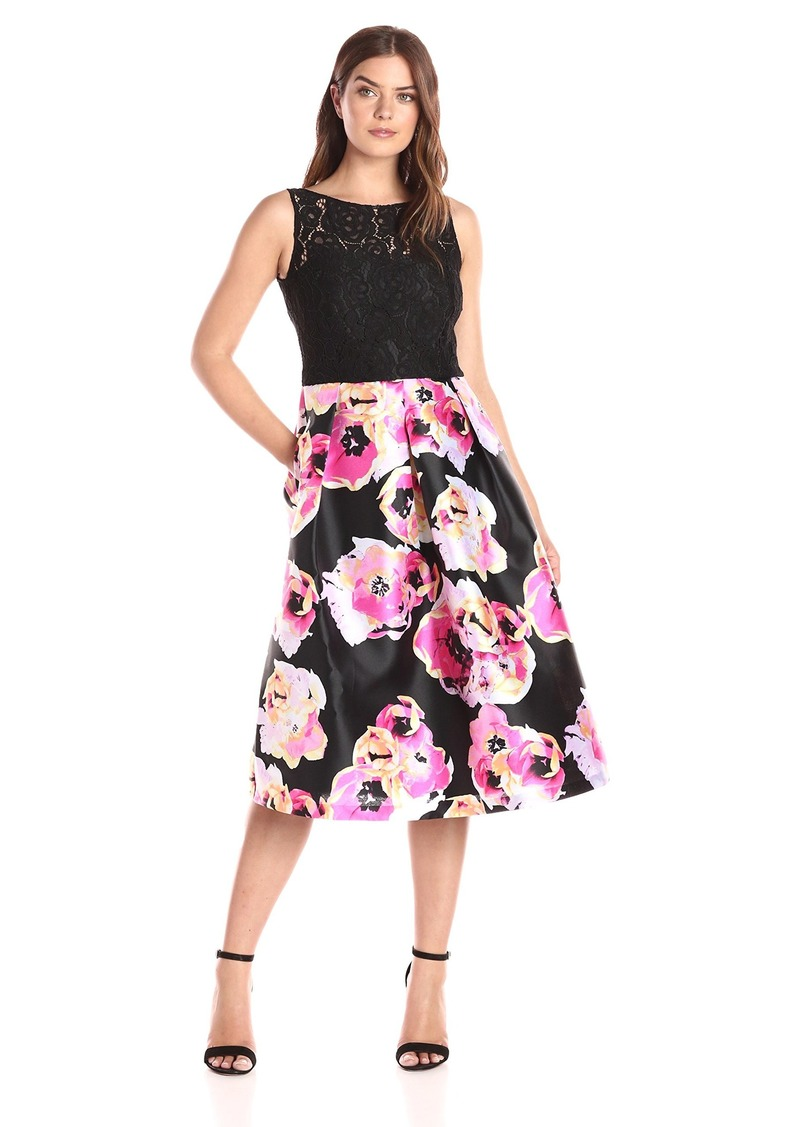 ELLEN TRACY Women's Print Floral Occasion Dress