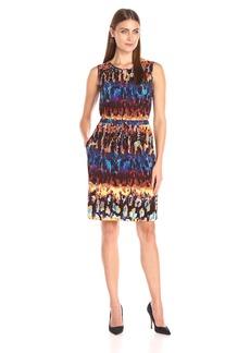 Ellen Tracy Women's Printed Jersey Dress