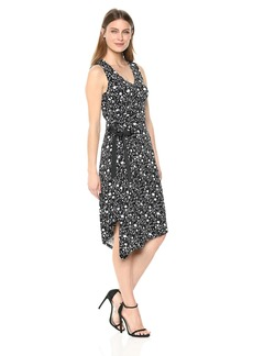 Ellen Tracy Women's Ruched Dress Mini Silhouette-Bl L