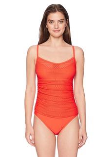 ELLEN TRACY Women's Scoop Neck One-Piece Swimsuit Bathingsuit