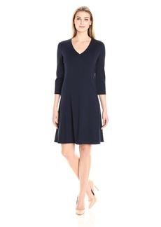 Ellen Tracy Women's Seamed a-Line Dress  L