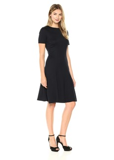 ELLEN TRACY Women's Seamed Knit Dress  L