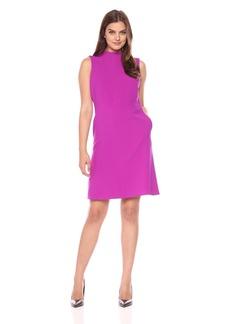 Ellen Tracy Women's Seamed Mock Neck Dress