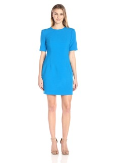 Ellen Tracy Women's Seamed Short Sleeve Dress