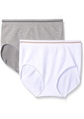 ELLEN TRACY Women's Seamless 2 Pack Full Brief Panty