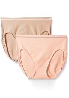 Ellen Tracy Women's Seamless 2 Pack Hicut Panty