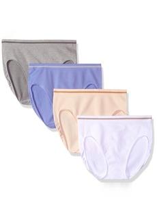 Ellen Tracy Women's Seamless Flawless Fit Hi Cut Panty (Pack of 4)  S