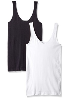 ELLEN TRACY Women's Seamless Reversible 2 Pack Camisole  M