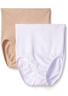 Ellen Tracy Women's Seamless Shape High Waisted Control Brief Shaper Panty
