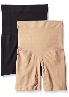 Ellen Tracy Women's Seamless Shape High Waisted Long Leg Bottom Shaper Panty