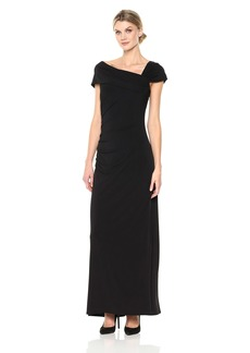 Ellen Tracy Women's Short Sleeve Jersey Gown