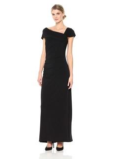 ELLEN TRACY Women's Short Sleeve Jersey Gown