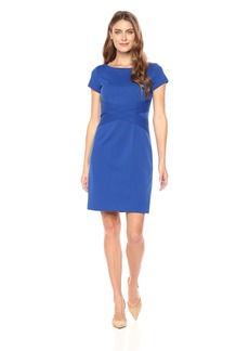 Ellen Tracy Women's Short Sleeve Ponte Dress