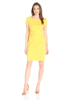 Ellen Tracy Women's Short Sleeved Ponte T Shirt Dress