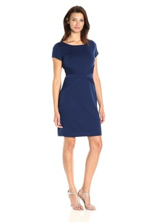 Ellen Tracy Women's Short-Sleeved Ponte T-Shirt Dress